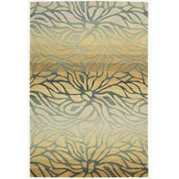 Hand-tufted Contour Abstract Lilies Breeze Rug - 5' x 7'6
