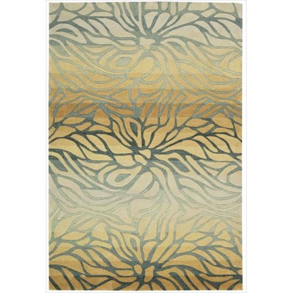 Hand-tufted Contour Abstract Lilies Breeze Rug - 7'3 x 9'3