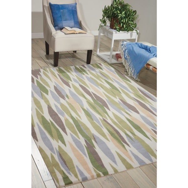 Waverly Sun N' Shade Bits & Pieces Violet Area Rug by Nourison - Multi-color - 7'9 x 10'10