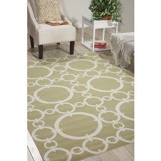 Waverly Sun N' Shade Connected Citrine Area Rug by Nourison (5'3 x 7'5)