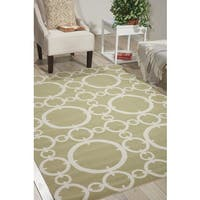 Waverly Sun N' Shade Connected Citrine Area Rug by Nourison - 7'9 x 10'10