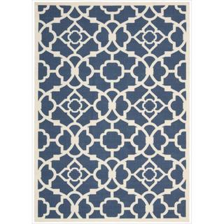 Waverly Sun N' Shade Lovely Lattice Lapis Area Rug by Nourison (5'3 x 7'5)