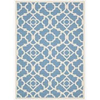 Waverly Sun N' Shade Lovely Lattice Azure Area Rug by Nourison