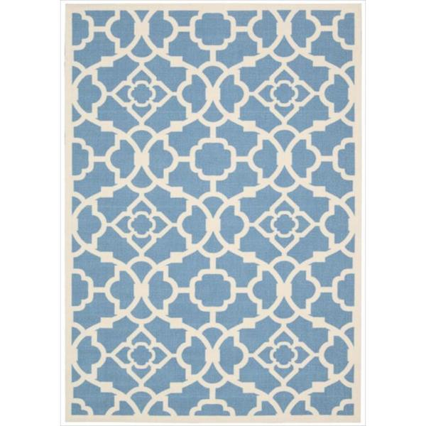 Waverly Sun N' Shade Lovely Lattice Azure Area Rug by Nourison (7'9 x 10'10)