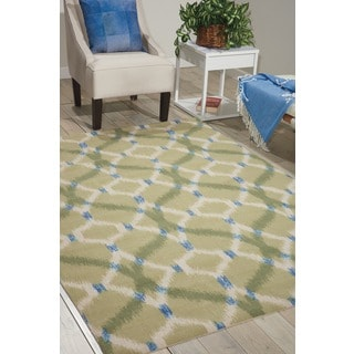 Waverly Sun N' Shade Izmir Ikat Avocado Area Rug by Nourison (5'3 x 7'5)