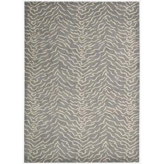 Kailash Animal Print Light Grey Rug (5'3 x 7'5)