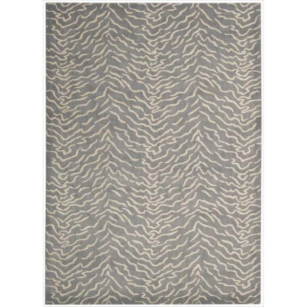 Kailash Animal Print Light Grey Rug (7'9 x 10'10)