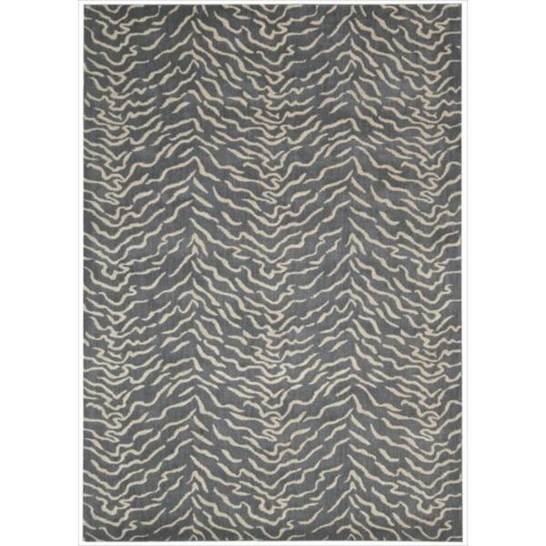Kailash Animal Print Steel Rug (7'9 x 10'10)