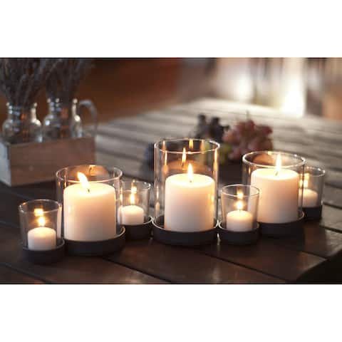 Rustic Iron and Glass Multiple Candle Holder