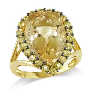 Miadora 14k Yellow Gold Citrine Cocktail Ring