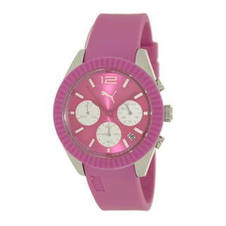 Puma Women's Motor PU102812003 Pink Polyurethane Quartz Watch with Pink Dial