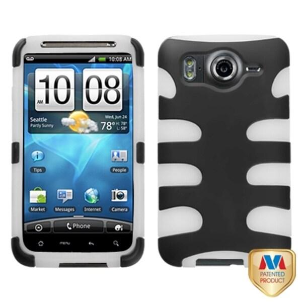 MYBAT Black/ T-Clear Fishbone Case for HTC Inspire 4G