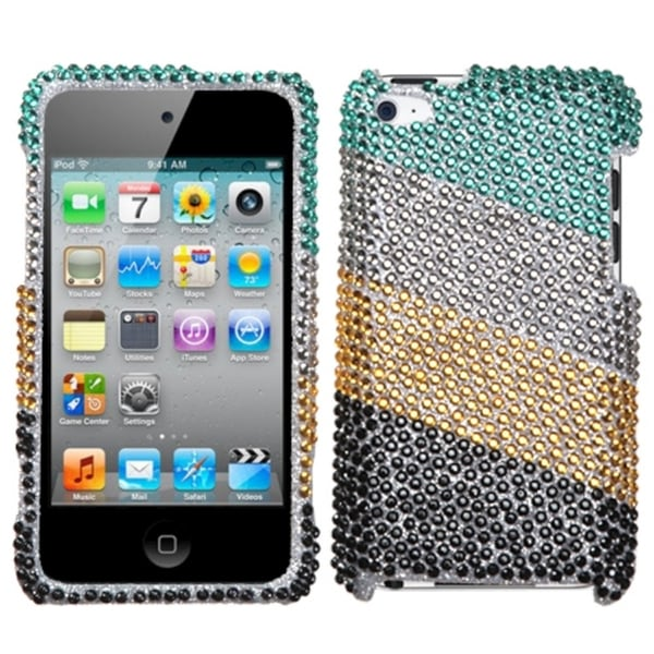 INSTEN Green/ Silver Diamond for Apple iPod Touch Generation 4
