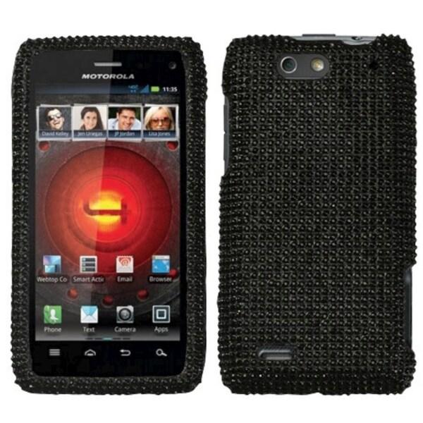 MYBAT Black Diamante Case for Motorola Droid 4 XT894