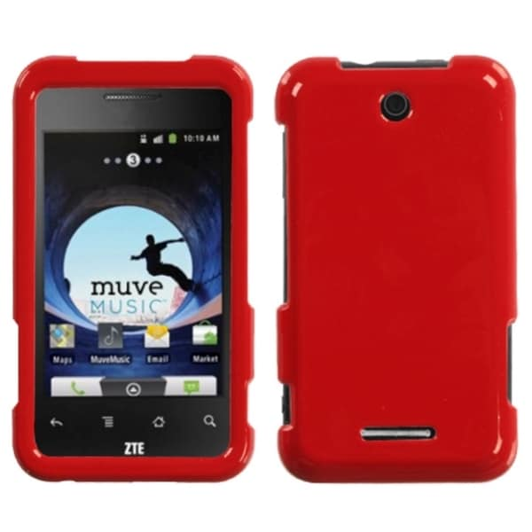 INSTEN Solid Flaming Red Phone Case Cover for ZTE X500 Score