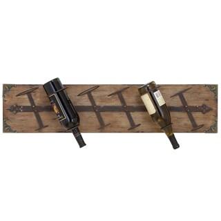 Reclaimed Wood Wall-mount 6-bottle Wine Holder