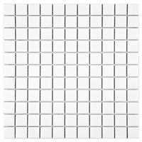 SomerTile 11.75x11.75-inch Victorian Square Matte White Porcelain Mosaic Floor and Wall Tile (10 tiles/9.8 sqft.)