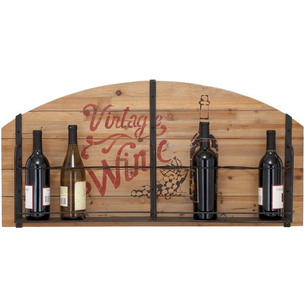 Vintage Wine Enthusiast Wood 8-bottle Wine Rack