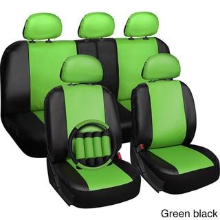 Oxgord Faux Leather PVC 17-piece Universal Fit Seat Cover Set