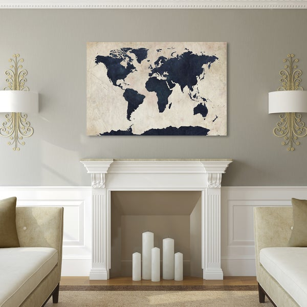 Carbon loft michael tompsett world map navy canvas art free carbon loft michael tompsett x27world map navyx27 canvas gumiabroncs Gallery