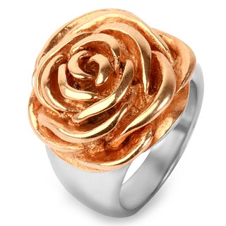 Goldplated Stainless Steel Rose Ring (2 options available)