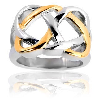Goldplated Stainless Steel Celtic Love Knot Ring
