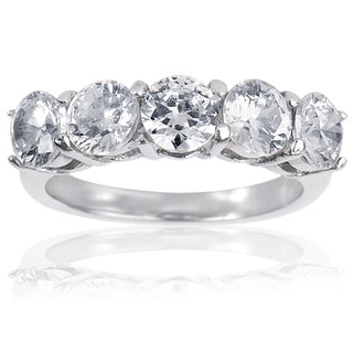 Stainless Steel Round Cubic Zirconia Ring