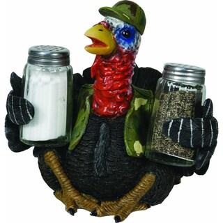 River's Edge Turkey Holding Glass Salt & Pepper Shaker Set