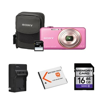 Sony Cyber-shot DSC-WX70 16MP Digital Camera Bundle