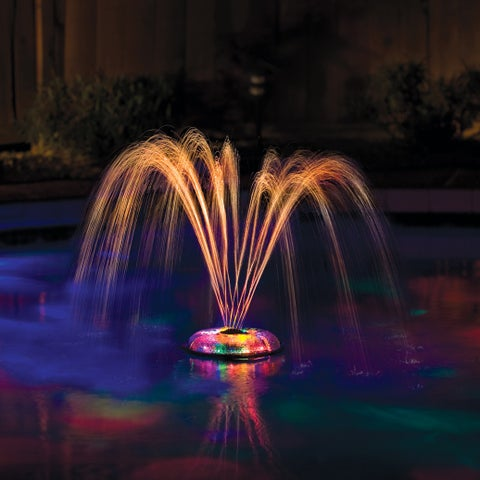 Small Underwater Floating Light and Fountain for Pools - Red