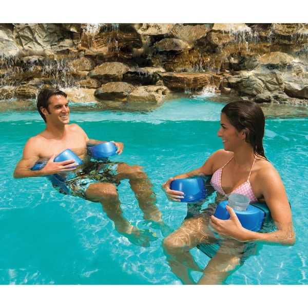 Aqua Cell Maui Sling Chair Pool Float With Dual Cupholders