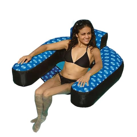 Fabric Covered Suspending Chair Pool Inflatable - Blue