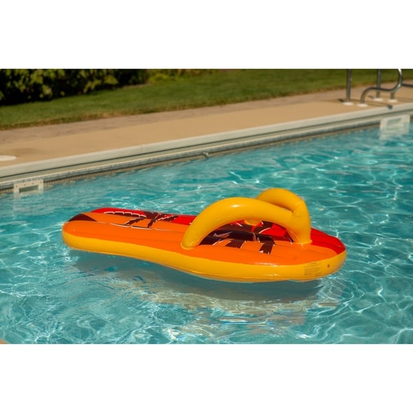 4599759fd20 Blue Wave Tropical Flip Flop 71-inch Inflatable Pool Float - Orange Yellow -