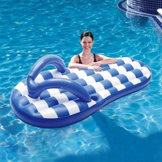 Marine Blue Flip Flop 71-inch Inflatable Pool Float