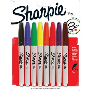 Sharpie Assorted Ink Fine Point Permanent Markers (Pack of 8)
