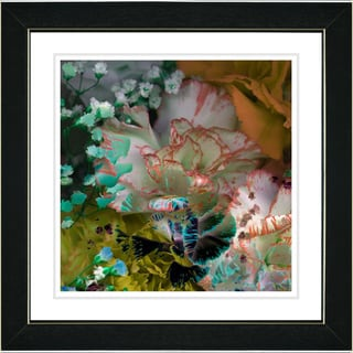Studio Works Modern 'Royal Carnations in Yellow' Framed Print