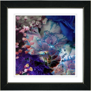 Studio Works Modern 'Royal Carnations in Blue' Framed Print