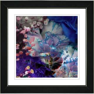 Studio Works Modern 'Royal Carnations in Blue' Framed Print