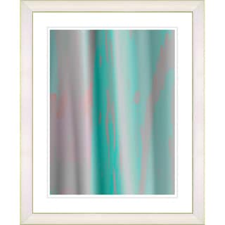 Studio Works Modern 'Turquoise Flow' Framed Print
