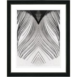 Studio Works Modern 'White Feather' Framed Print
