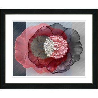 Studio Works Modern 'Red Day Flower' Framed Print