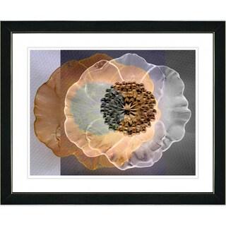 Studio Works Modern 'Orange Day Flower' Framed Print
