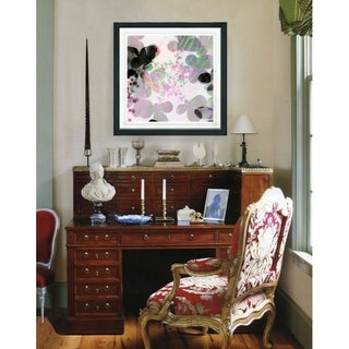 Studio Works Modern 'Breeze Floral' Framed Fine Art Giclee Print