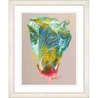 Studio Works Modern 'Yellow Flower Bud' Framed Print