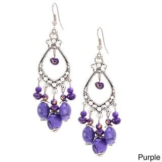 New Silver Clover Chandelier Dangle Fashion Earrings