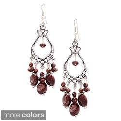 New Silver Clover Chandelier Dangle Fashion Earrings