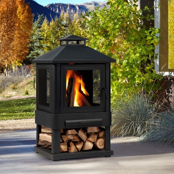 Real Flame Trestle Outdoor Fireplace Free Shipping Today