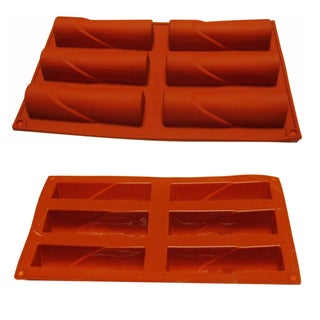 Universal 6-cavity Red Silicone Mold/ Baking Pan