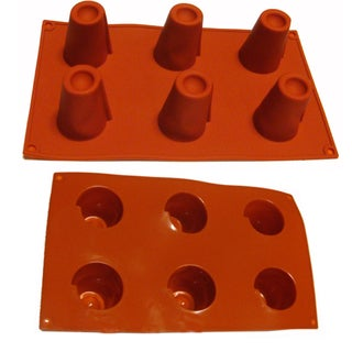 Universal Mini Volcanos 6-cavity Red Silicone Mold/ Baking Pans