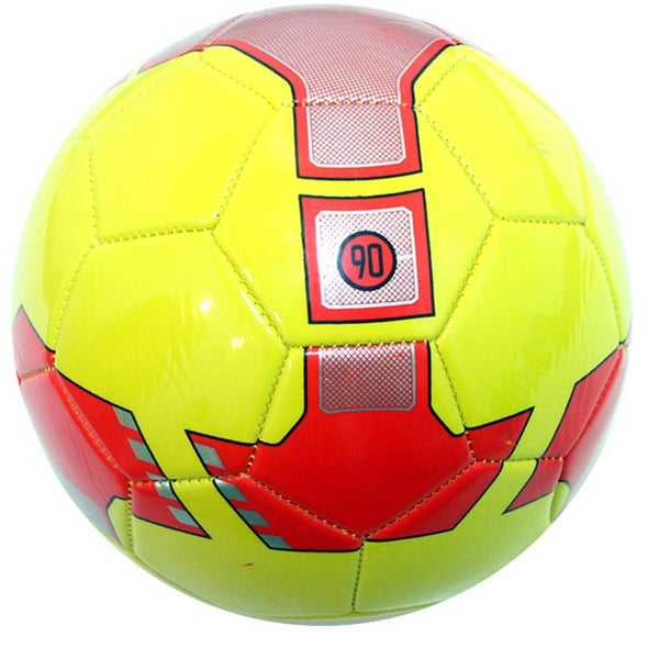 Indoor Outdoor Yellow and Red Soccer Ball Size 5